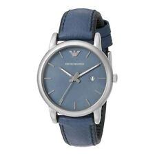 Reloj Pulsera emporio Armani Para Hombre Esfera Azul Correa De Cuero AR1972