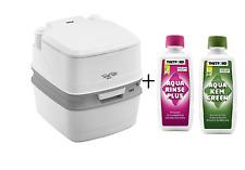 Thetford Porta Potti Qube 165 Camping Toilet + Aquakem Chemical Duo Pack - 92805
