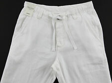 Men's MURANO White LINEN Drawstring Pants 30x30 30 30 NEW NWT S55PM730 Wow!
