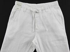 Men's MURANO White LINEN Drawstring Pants 38x32 38 32 NEW NWT S55PM730 Wow!