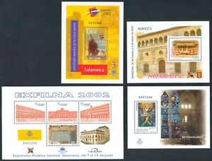 ESPAÑA - AÑO 2002 -  EDIFIL 3878** - 3881** - 3906** - 3954** - 4 HB. - MNH