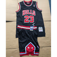 Michael Jordan #23 Chicago Bulls Jersey & Shorts Black New with tags Men's