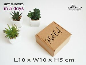 Square MAILING POSTAL CARDBOARD BOXES 100x100x50mm Royal Mail Shipping Gift Box