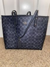 Coach Signature Tote Bag Navy Blue NEW WITHOUT TAGS