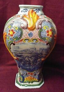 Vintage, Beautiful Hand Painted Signed Vase