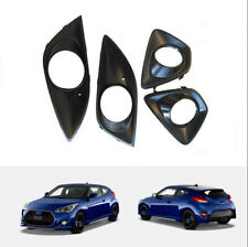 ABS Front&Rear bumper Fog Light Lamp Cover 4pcs For 2012-2017 Hyundai Veloster