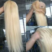 US 100% Real Remy Peruvian Human Hair 360 Lace Front Wig Full Lace Wigs Blonde P