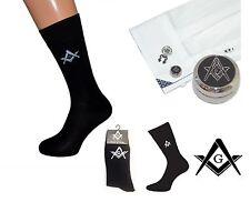 Freemasons Masonic Shirt Button Cover Cufflinks + A Pair Black Socks with ''G''