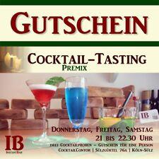 Gutschein: Cocktail-Tasting im CocktailContor in Köln.