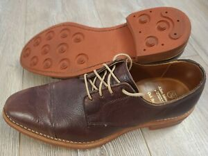 Allen Edmonds Oak Street Cap Toe Brown Leather Lace Up Oxford Men's US 10 D