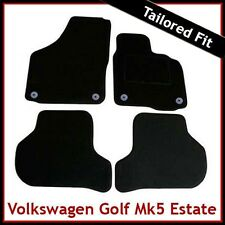 VW Golf Estate Mk5 2007-2009 Round Eyelets Tailored Carpet Car Mats BLACK