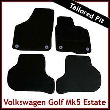 VW Golf Estate Mk5 2007-2009 Round Eyelets Tailored Carpet Car Mats BLACK