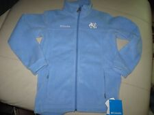UNC COLUMBIA Youth Fleece ZipUp Jacket, Lght Bl,Size Md,Official Collegiate Wear