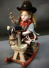 "All-Bisque 5"" Antique Mignonette 357 Barefoot Sitting Bent-Leg Doll German"