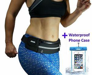dimok Running Belt Waist Pack Waterproof Phone Case - Runners Belt Fanny Pack –