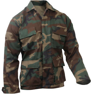 Military BDU Shirt Tactical Uniform Army Coat Camouflage Army Fatigue Jacket