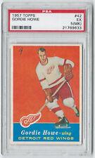 1957 Topps Gordie Howe #42 PSA 5(MK) Hockey Card