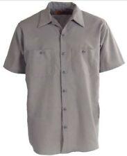 NEW Size MEDIUM Red Kap Mens Short Sleeve Work Shirt  - Grey  dickies 🔥