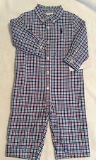 NWT Boy's Ralph Lauren One Piece Lined Outfit L/S  3M