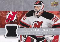 08-09 Upper Deck Martin Brodeur UD Game Jersey Devils 2008