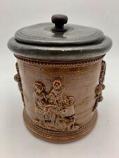 Antique Georgian Salt Glaze Tobacco Jar circa 1820