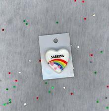 Rainbow & Hearts Fashion Pin Brooch Personalized SABRINA - Stocking Stuffer