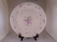Pretty Dinner Plate, Mikasa Bone China, Blue Violets Pattern (#A7057), Embossed