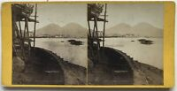 Vesuvio Napoli Italia Foto N° PL40L7 Stereo Vintage Albumina c1865