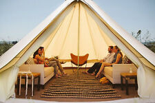 5M Family Camping Tent Yurt Cotton Canvas Glamping Bell Tent Waterproof 4-Season