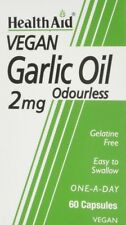HEALTH AID GARLIC OIL 2MG ODOURLESS 60 VEGAN CAPSULES