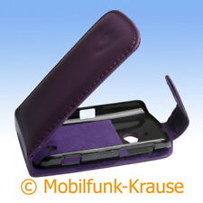 Flip Case Pouch Mobile Bag Case for Sony Ericsson Live with Walkman (Viole