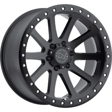 "(2) 18X9 +12 6X135 BLACK RHINO MINT BLACK WHEELS/RIMS 18""INCH 22980"