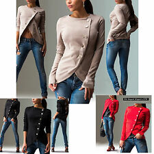 Maglia Giacca Donna Top Manica Lunga Woman Long Sleeve Top T-shirt Jacket 561023