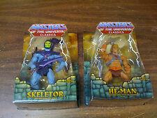 MOTU Classics 1st Print He Man Skeletor  Set of 2 Ship Worldwide NEW