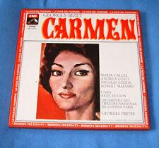 Cofanetto 3 LP CARMEN  CALLAS Guiot Gedda  Massar 1977