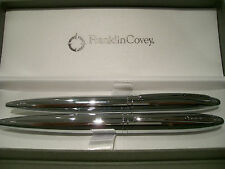 Franklin Covey Pure Chrome Ballpoint Pen/Pencil Set by AT CROSS Silver