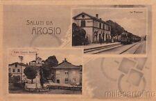 * AROSIO - Viale Grandi Invalidi e Stazione con Treno
