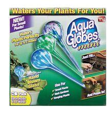Set of 3 AQUA GLOBE MINI Watering System Glass Bulbs Plants Seen On TV AG071106
