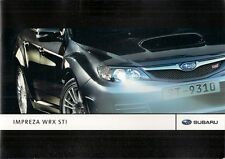 Subaru Impreza 2.5 WRX STi 5-dr 2007-08 UK Market Sales Brochure