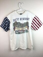 Vtg Mount Rushmore Men's Patriotic Flag Single Stitch Souvenir Shirt Size Large