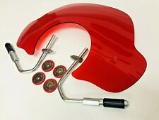 VESPA LX RED PERSPEX TRANSLUSCENT FLYSCREEN WITH MOUNTING BRACKETS & FIXINGS
