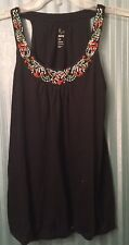 Old Navy Medium Black Round Neck Sleeveless Shirt Women's Clothing