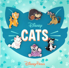 Disney Pin Booster SET✿Disney Cats Oliver Cheshire Si Am Figaro Marie Lucifer