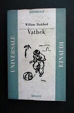 VATHEK William Beckford  UNIVERSALE EINAUDI 1946 Giaime Pintor Moravia