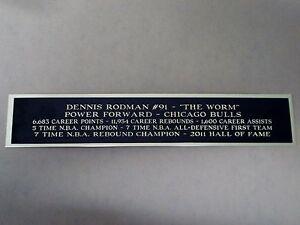 Dennis Rodman Bulls Autograph Nameplate For A Basketball Jersey Case Or 1.5 X 6