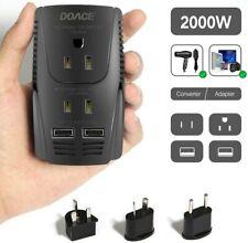 2000W Voltage Converter Step Down 220V to 110V 10A Power Adapter W/ 2 Usb
