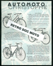 2 Prospectus AUTOMOTO années 50' Bicyclettes Vélos Catalogue + Bon de Garantie