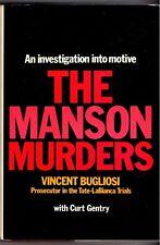 THE MANSON MURDERS ~ by Vincent Bugliosi,Curt Gentry (Hardback,1975) RARE 1st Ed