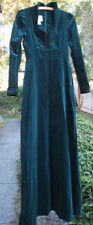 Vintage Gunne Sax by Jessica San Francisco Green Velveteen Maxi Dress - Size 7