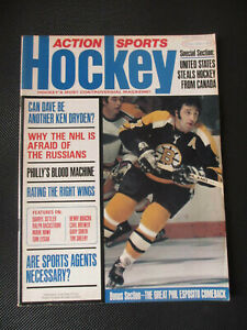 March 1974 Action Sports Hockey Magazine - Phil Esposito Cover
